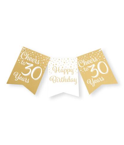 vlaggenlijn gold white 30 jaar