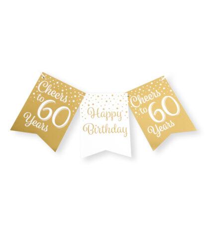vlaggenlijn gold white 60 jaar
