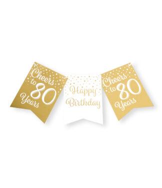 Vlaggenlijn 80 jaar gold white
