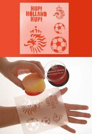 schmink sjabloon Voetbal nederlandse leeuw