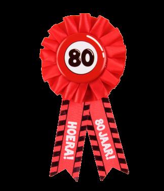 button rozet verjaardag 80